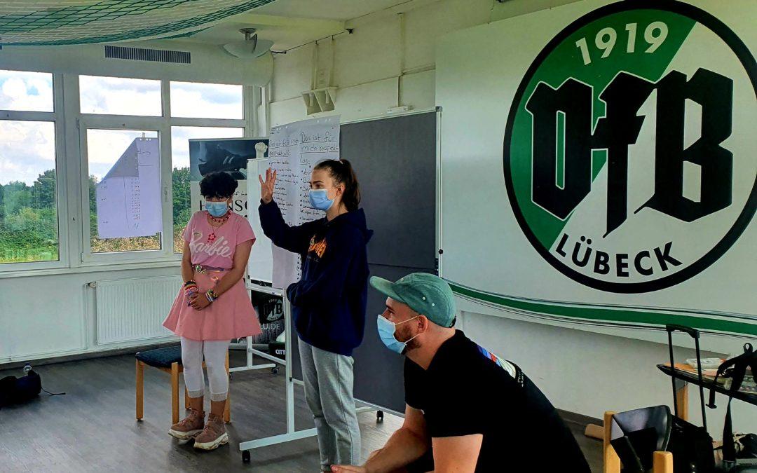 VfB macht Schule – Lernort Stadion mit der 9c der Schule Tremser Teich